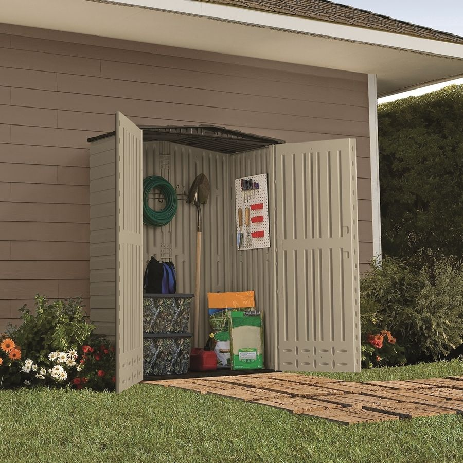 Shop Rubbermaid Roughneck Gable Storage Shed Common 5 Ft X 2 Ft