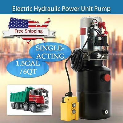 6 Quart Single Acting Hydraulic Pump Trailer 12 Volt Ebay In 2020 Hydraulic Pump Hydraulic Acting
