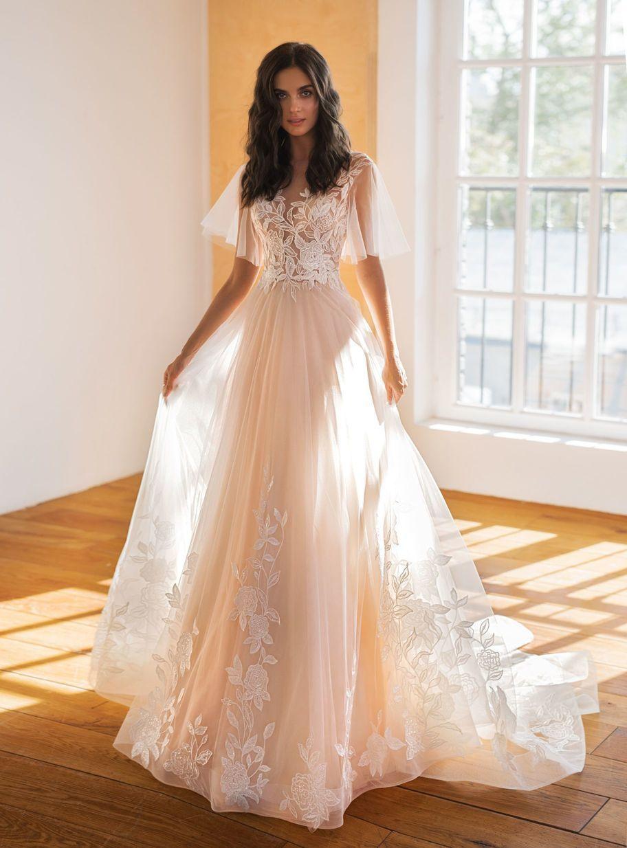 купить цветное свадебное платье