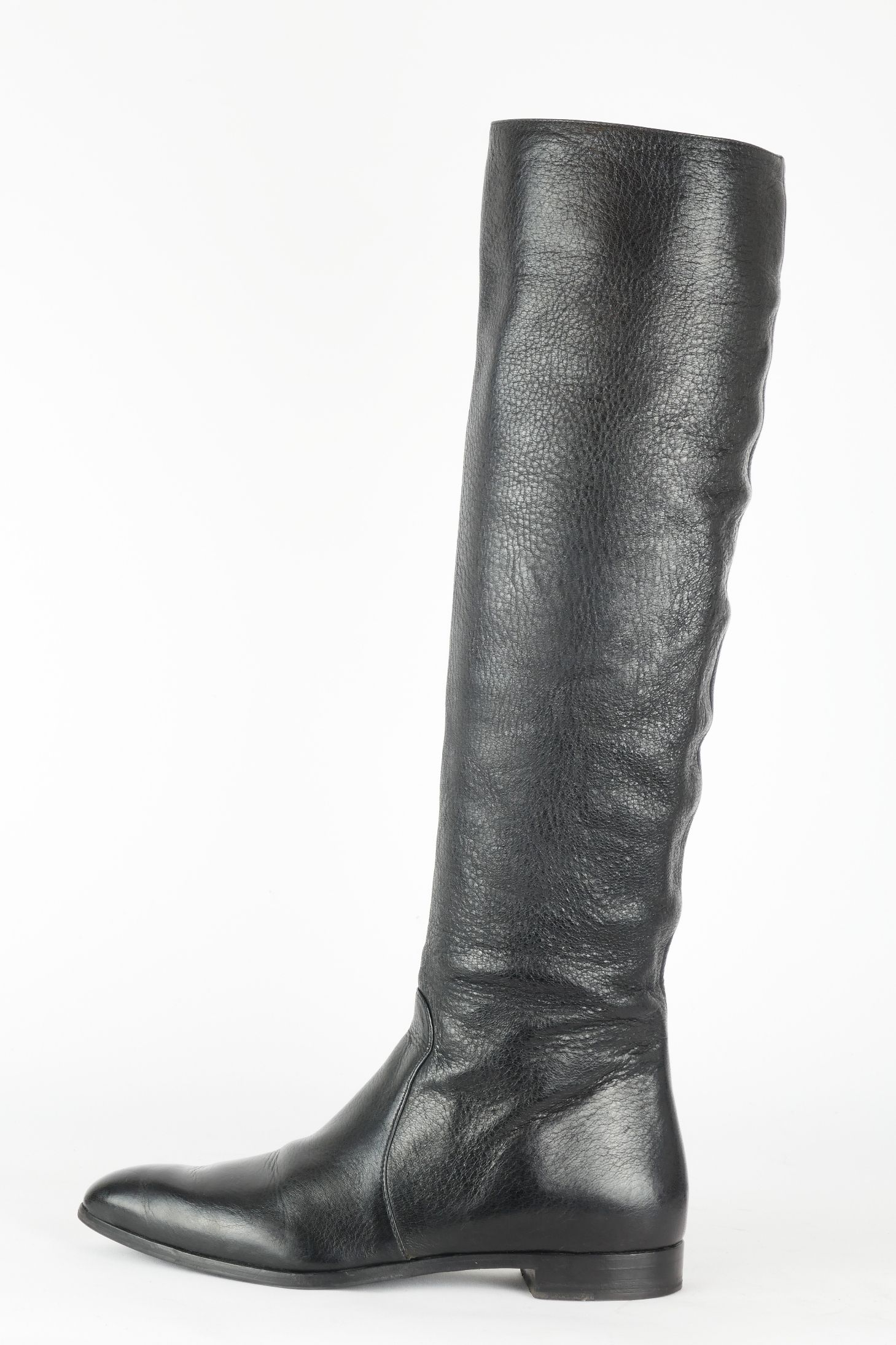 neues Erscheinungsbild Outlet zum Verkauf kinder Prada Overknees Leder schwarz | 00 BUUTS Overknee-Outlet ...
