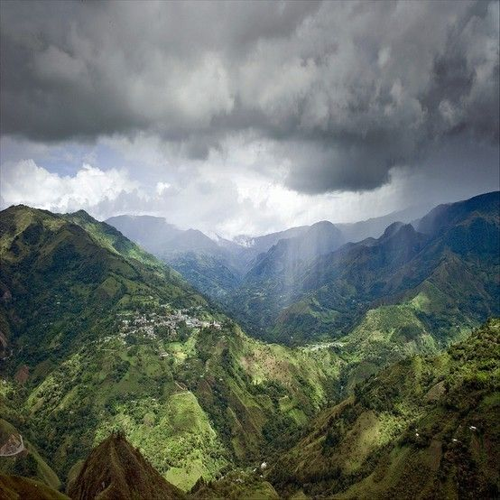 Rain over the Andean Mountains