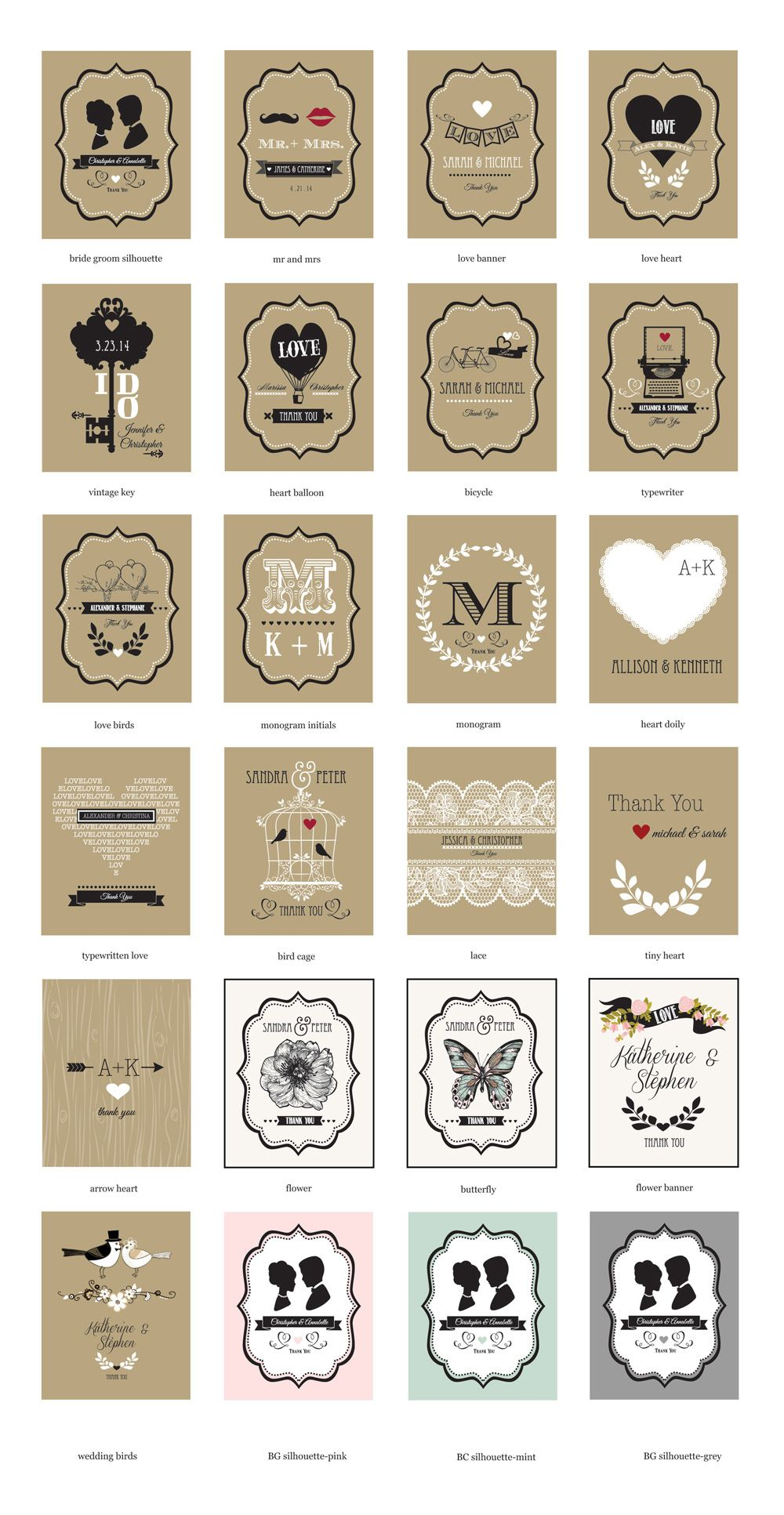 Vintage Wedding Personalized Playing Cards | Emma and Ben 2018 ...