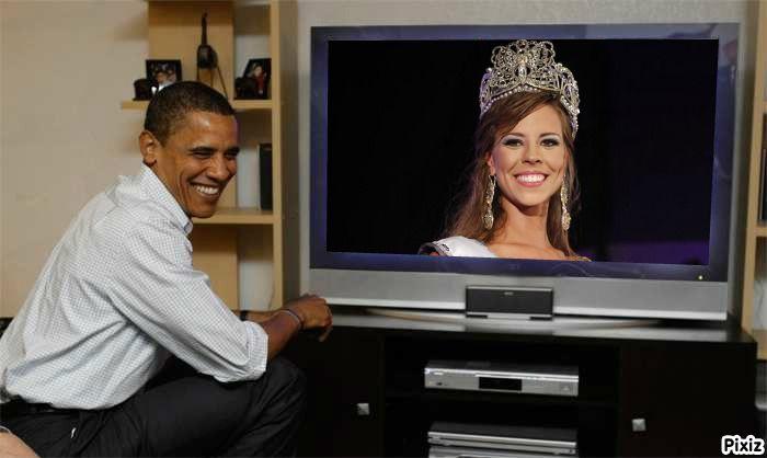 Stephanie Wander Werf Miss Universo Panama 2012 en vivo Obama