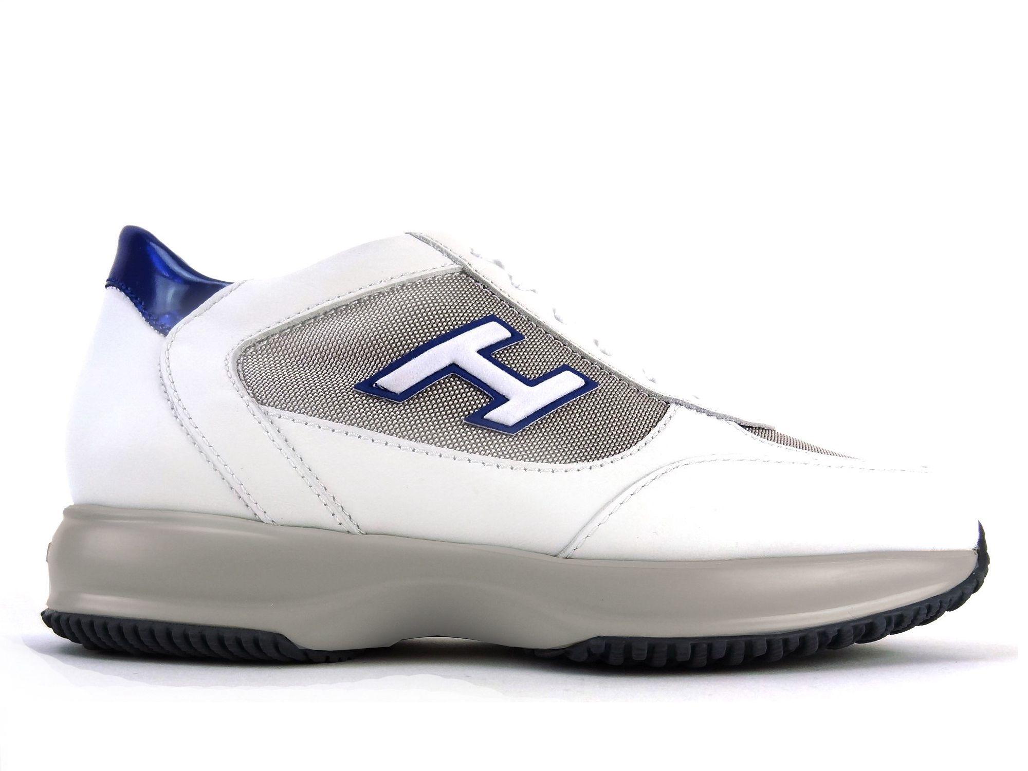 Cuir Blanc Et Tissu Chaussures De Sport Interactif Hogan 9eBr0vG6