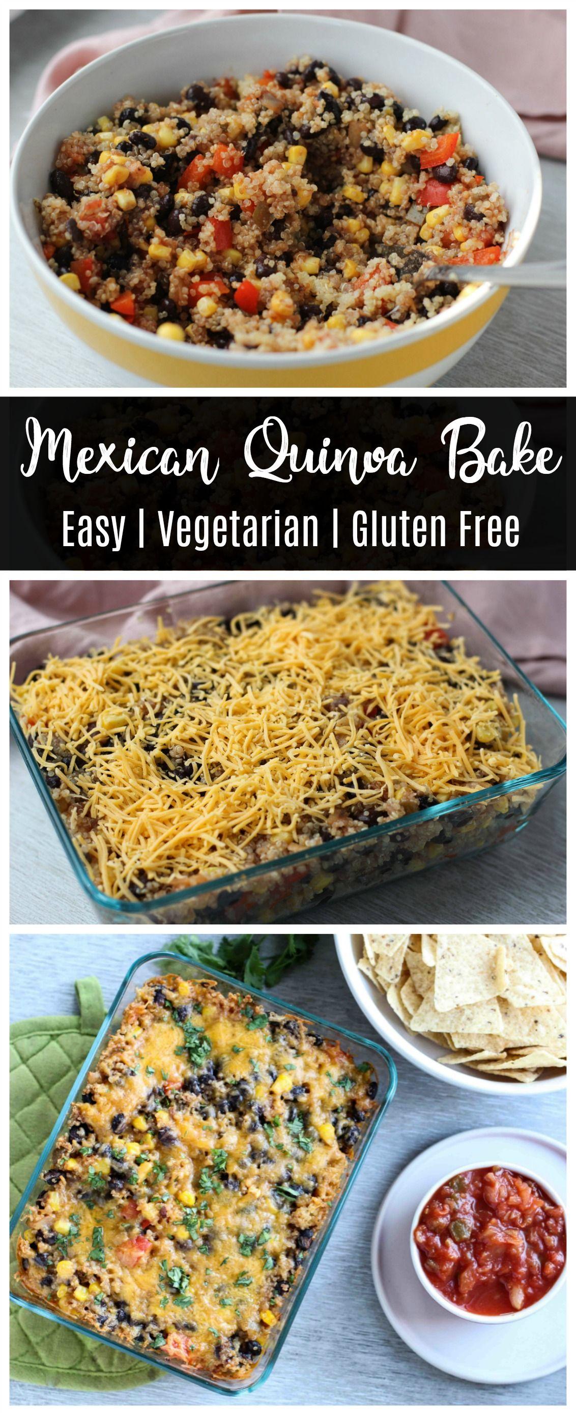 Easy mexican quinoa bake recipe vegetarian recipes