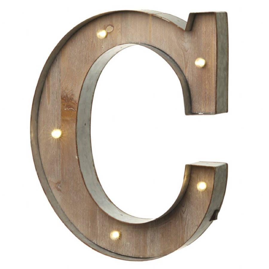 Alphabet Letter LED Light C