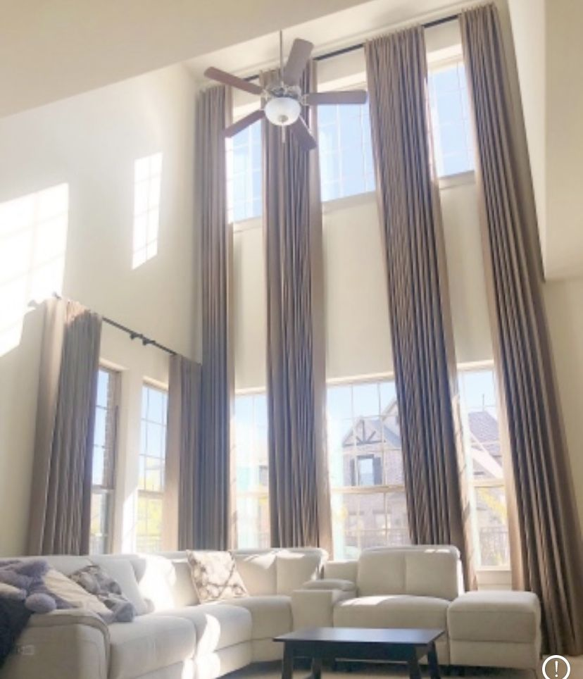 Custom Drapery for Every Window   High ceiling living room, High ...