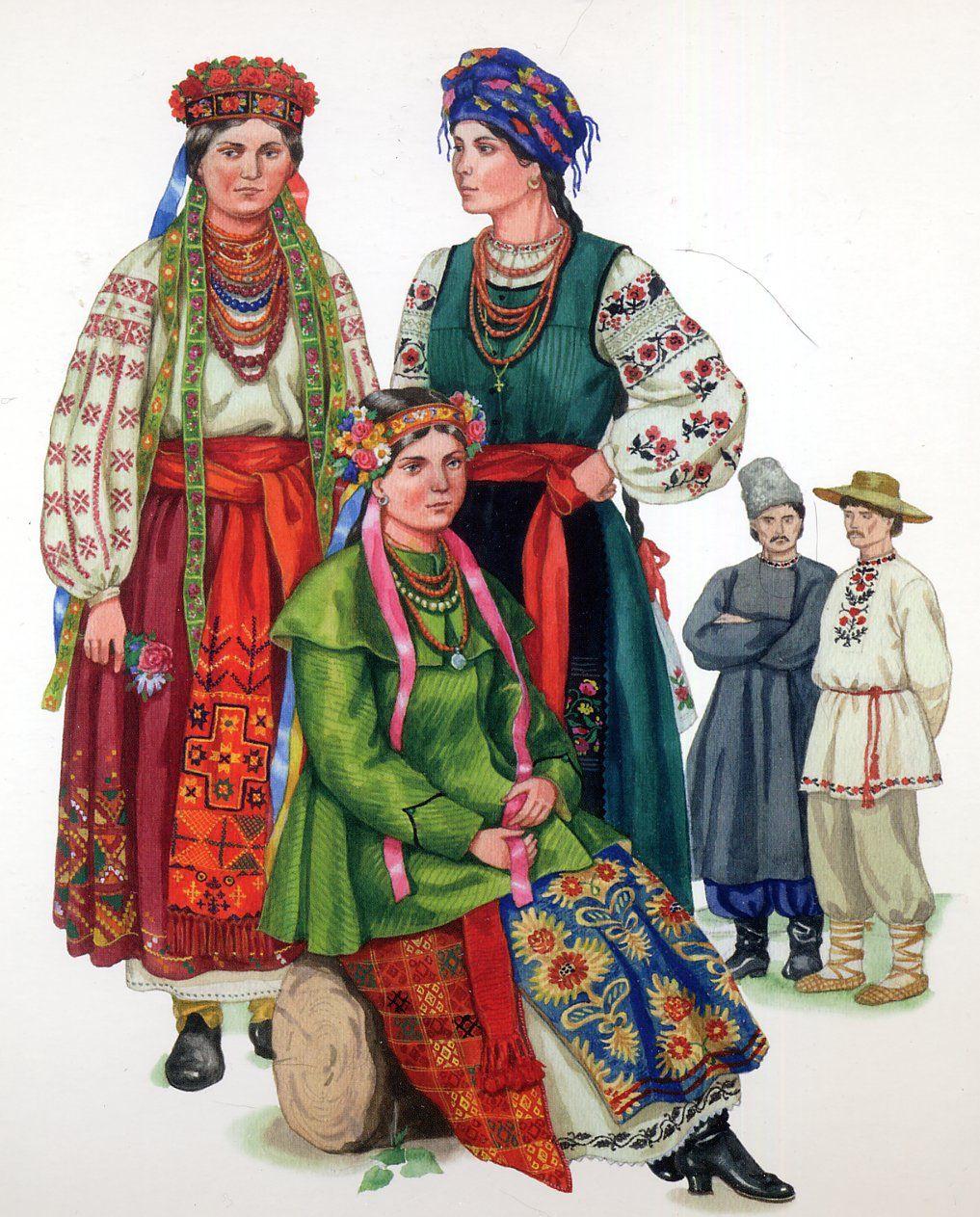 East Polissia Costume with Talijka, or skirt with bodice, Ukraine
