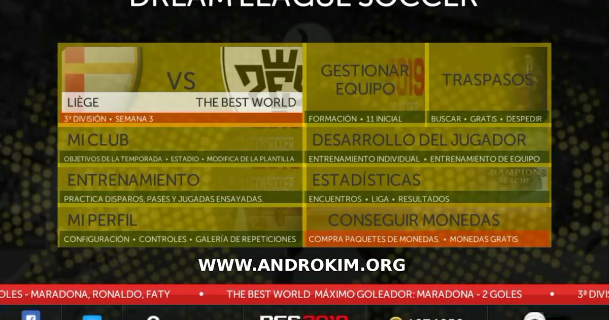 Dream League Classic Mod PES 2019 Android | ألعاب مهكرة للاندرويد in