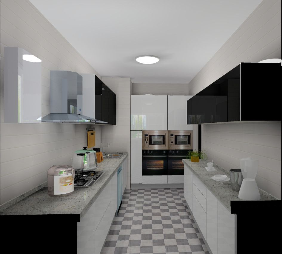 Kitchen, Black And White Kitchen Design Ideas With Marvellous Modular  Kitchen Sink And Furniture Ideas White Kitchen Wall Tile Design Ideas  Marble ...