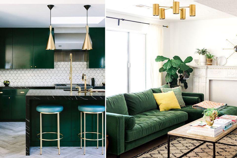 Green Interior Design Ideas Interior Design Trends Green Living Room Green Velvet Green Furniture Living Room Dark Green Living Room Living Room Green