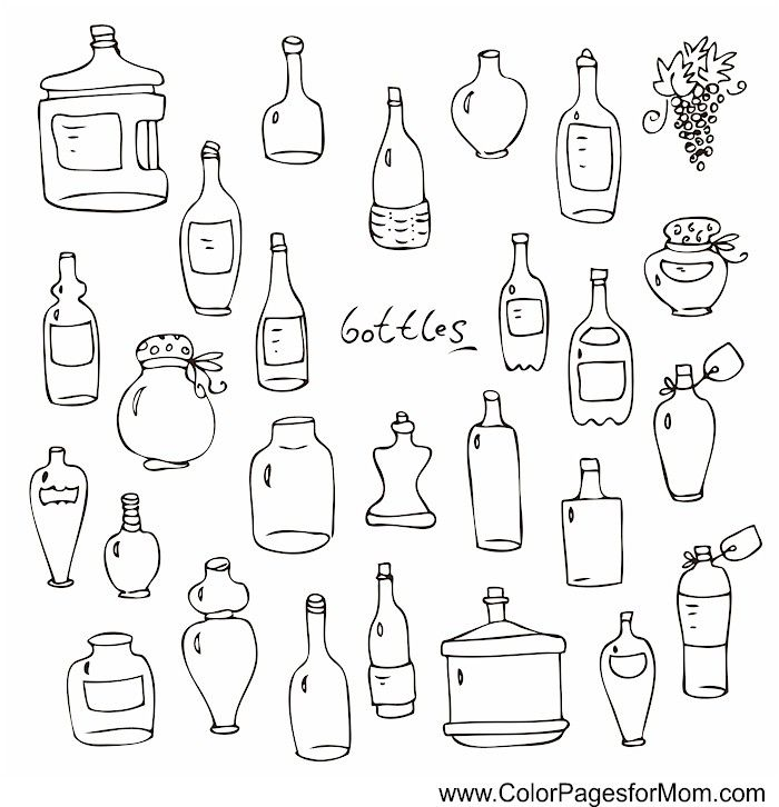 Advanced Coloring Pages Coffee Coloring Page 53 Wine And Beer Grape Bunch Coloring Pages