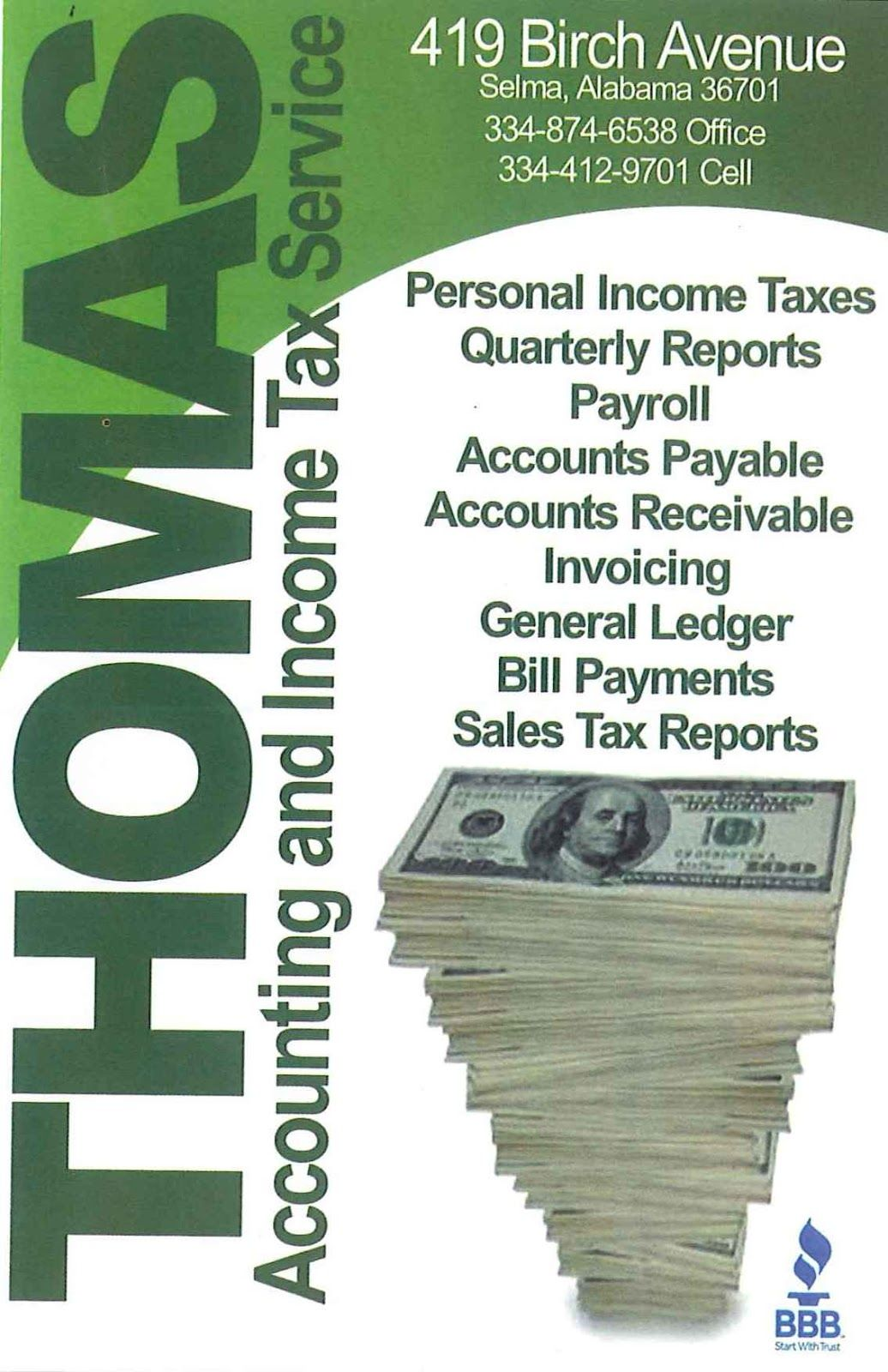 Thomas Accounting And Income Tax Service