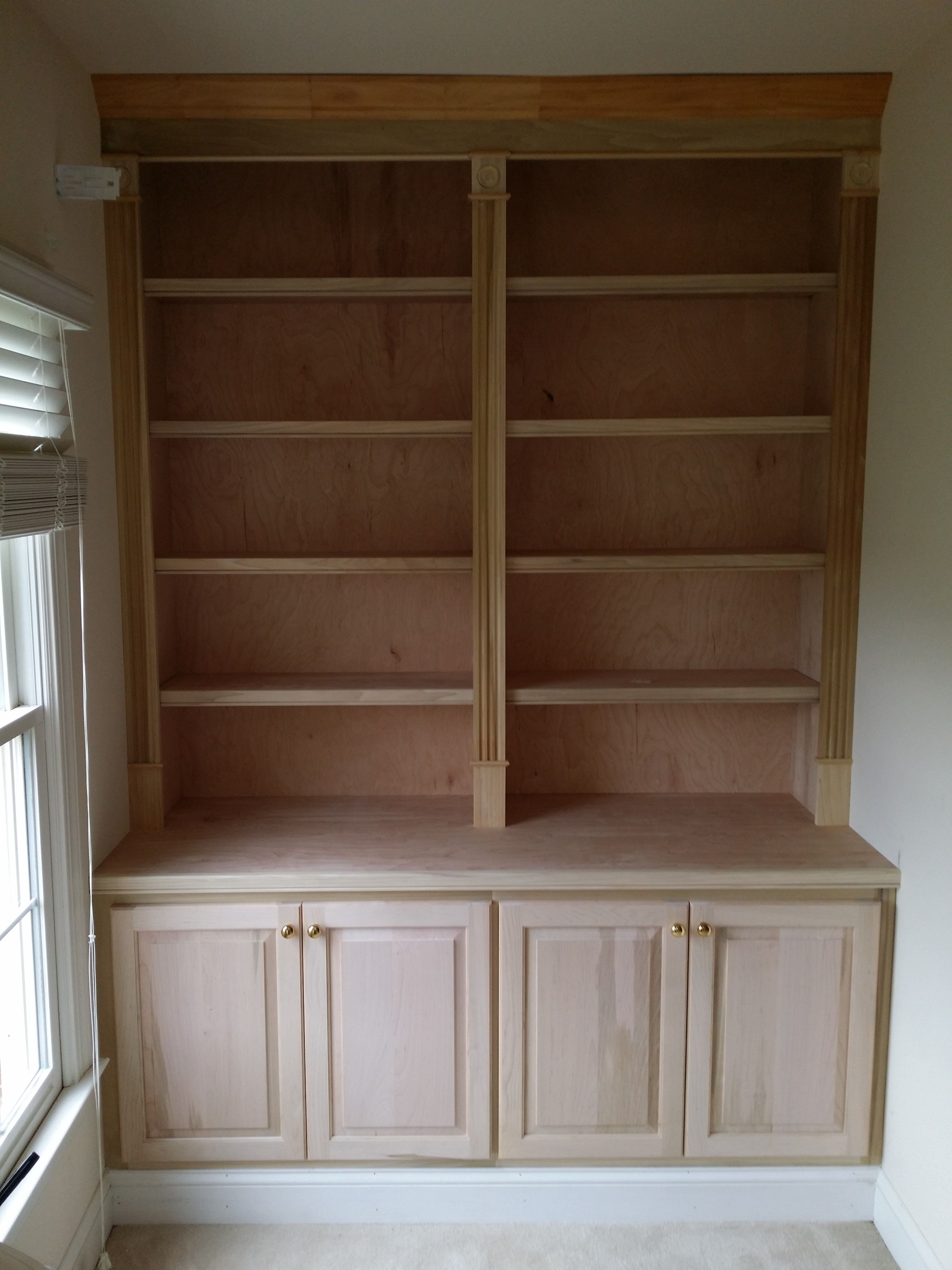 Built In With Fluted Stiles, Closed Storage, Adjustable Shelves Just Installed