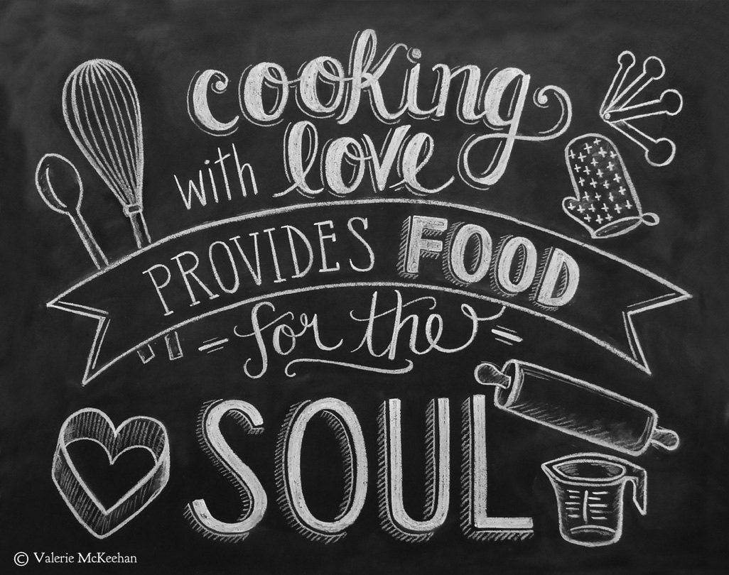 kitchen print chalkboard art food quote foodie by lilyandval 29 00 chalkboard art print on kitchen quotes printable id=35952