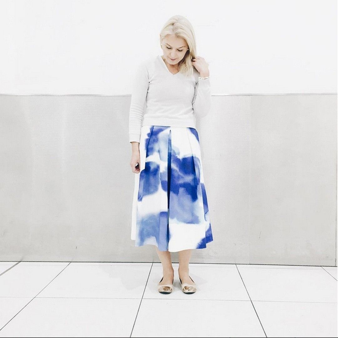 ~ a stroke of colour ~ Our Rain Maker skirt is a stunning statement piece. @ambermelody pairs it back beautifully with elegant neutrals. Shop it online www.talulah.com.au #talulahlabel #skirt #fashion #outfit #ootd