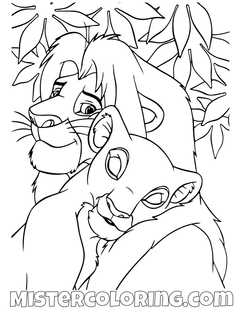 Adult Simba And Nala The Lion King Coloring Pages With Images