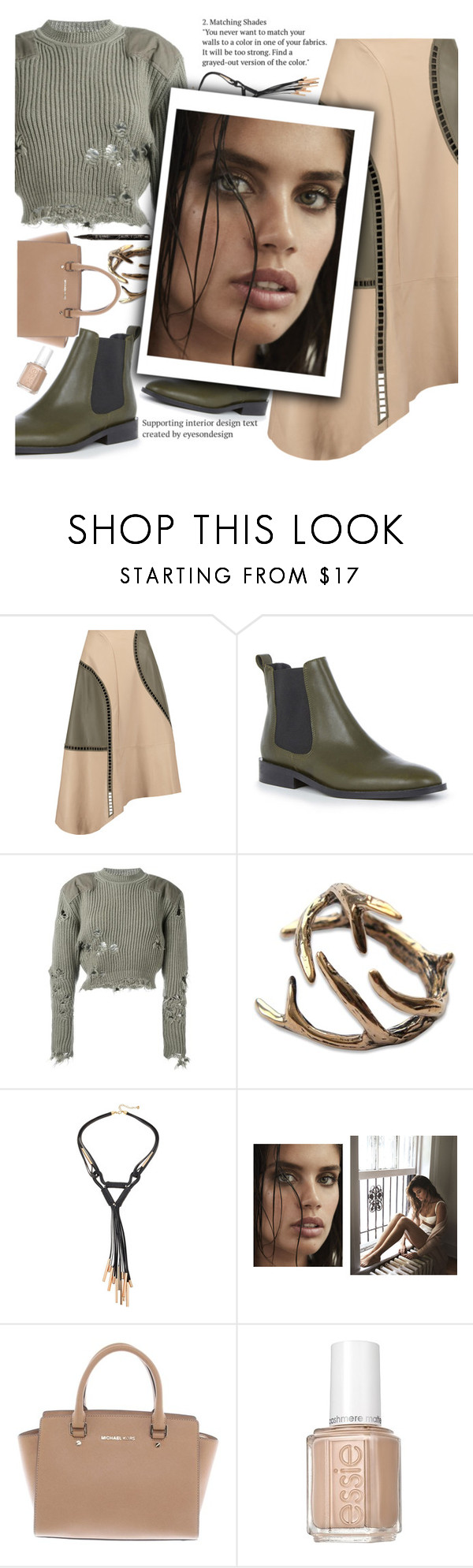"""""""Untitled #2122"""" by anarita11 ❤ liked on Polyvore featuring TIBI, Warehouse, adidas Originals, Michael Kors, Essie and Smith & Cult"""