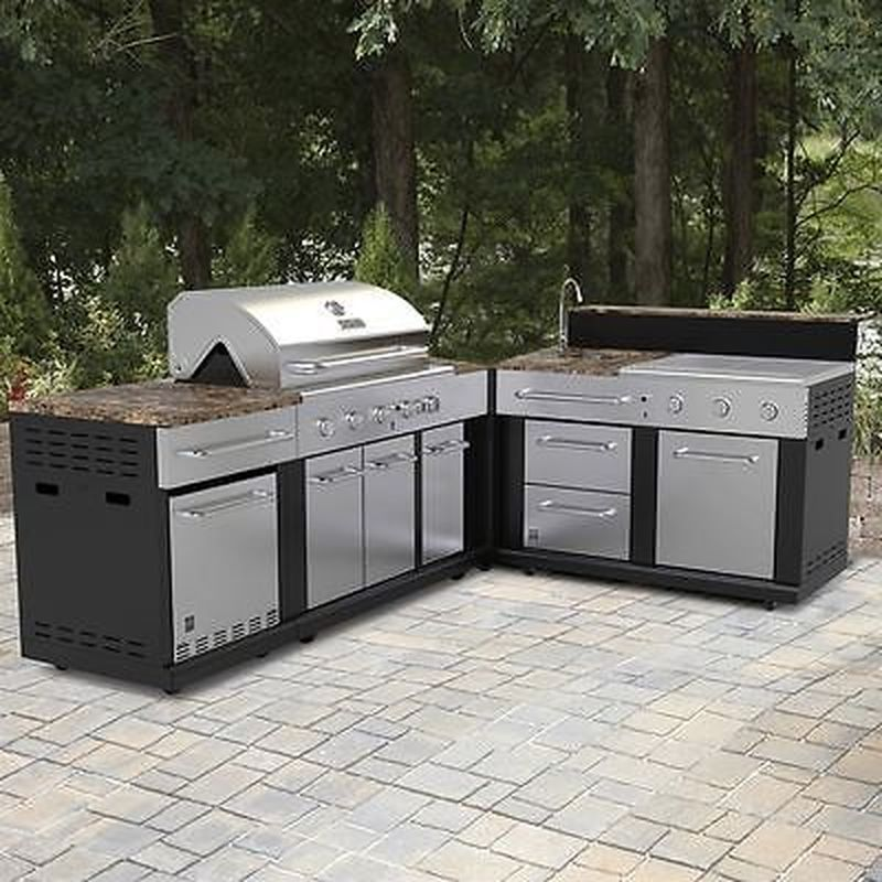44 Beautiful Modular Outdoor Kitchens Design For Your Dream House In 2020 With Images Backyard Kitchen Modular Outdoor Kitchens Outdoor Kitchen Island