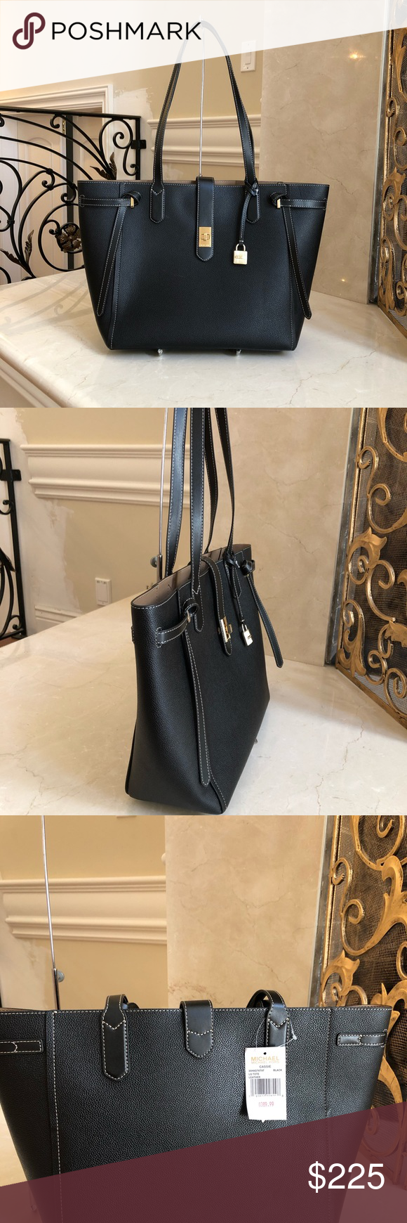 21e89498a59e Spotted while shopping on Poshmark: NWT Michael Kors Cassie large leather  tote handbag! #