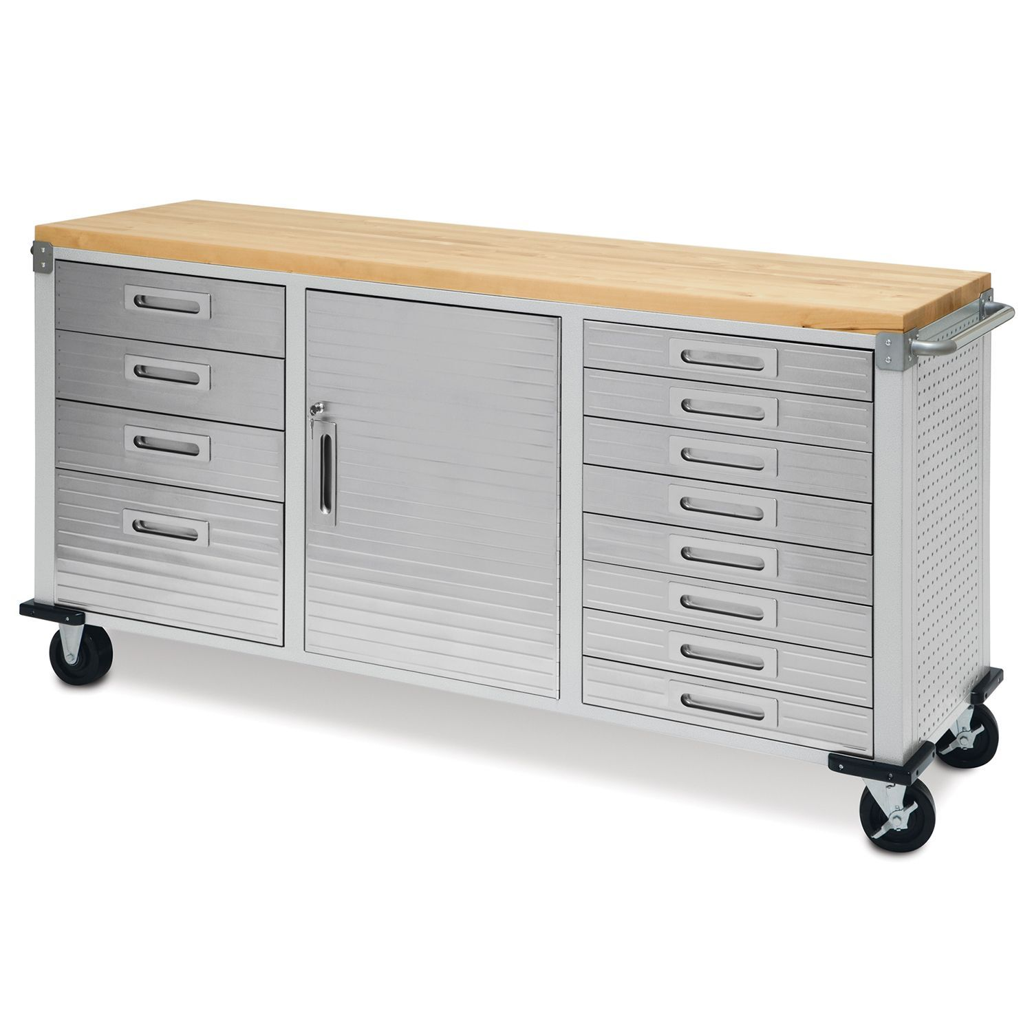Seville Classics Ultrahd 12 Drawer Rolling Workbench Sam S Club Storage Cabinet With Drawers Rolling Workbench Workbench With Storage