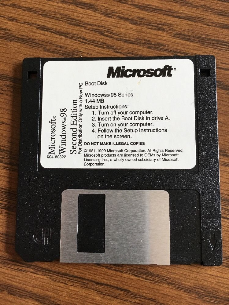 Details about Microsoft Windows 98 Second Edition Boot