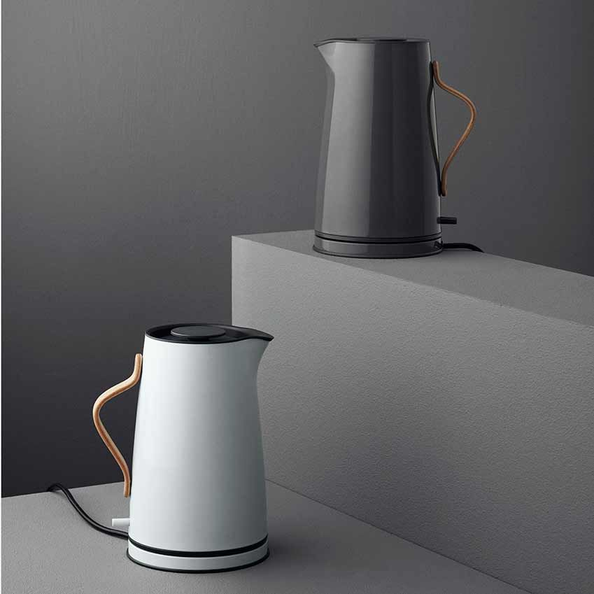 Is this the world's most beautiful electric kettle? We think so. Created for Stelton, the 'Emma' comes in a choice of pale blue-grey or steel grey