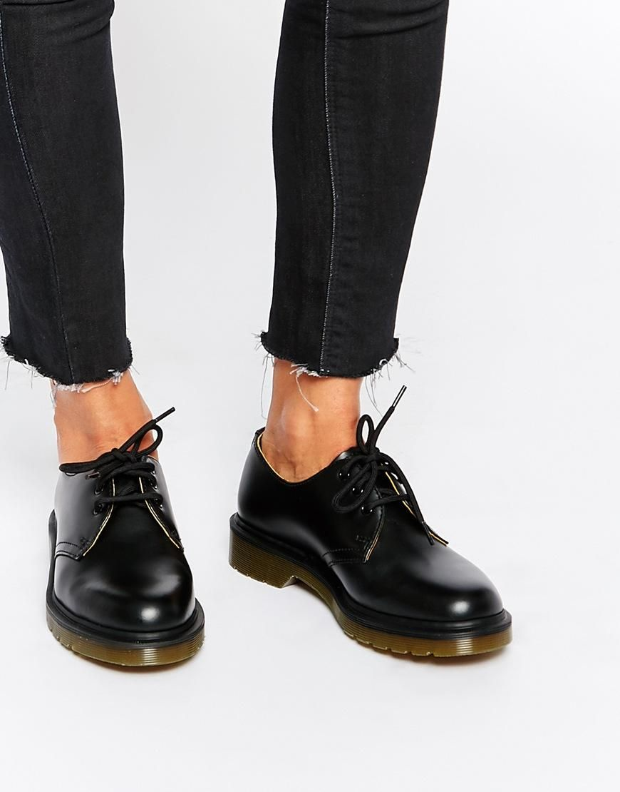 Dr Martens 1461 Classic Black Flat Shoes at asos.com
