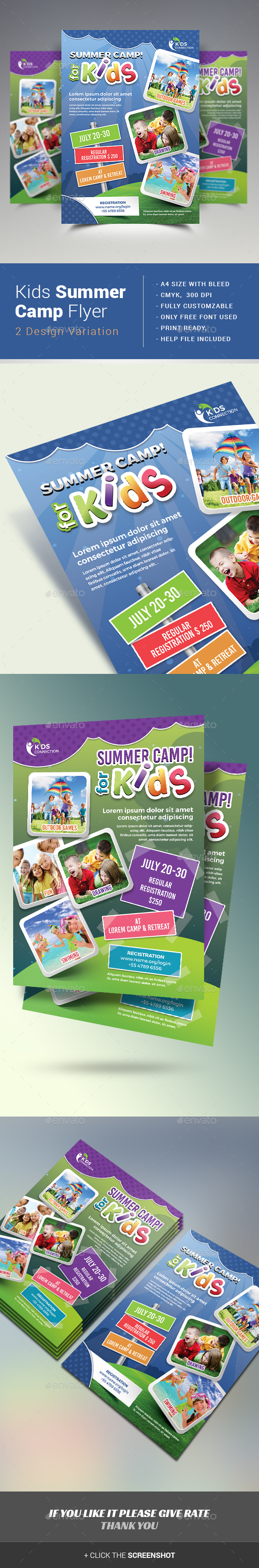 Kids Summer Camp Flyer  Download Heres And Flyer Template