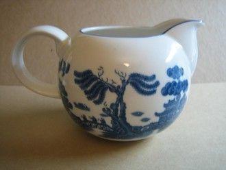 Decorative Small Pitcher - Blue White Chinoiserie Exotic Birds Cute Round #decorativedishes