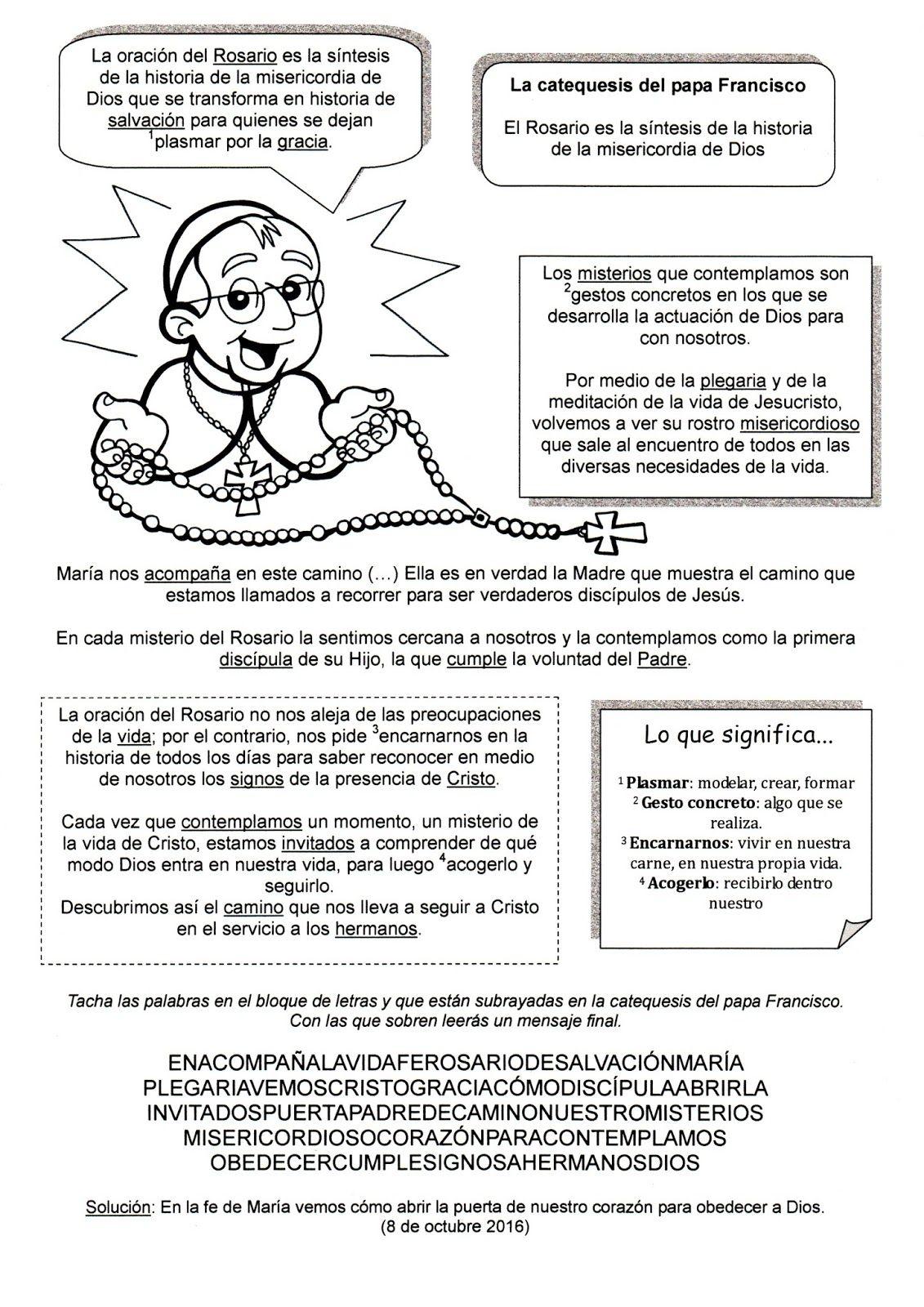 La Catequesis El Blog De Sandra Colorea Y Reza La