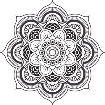 Amazon Com Detailed Mandala Design Black White Vinyl Decal