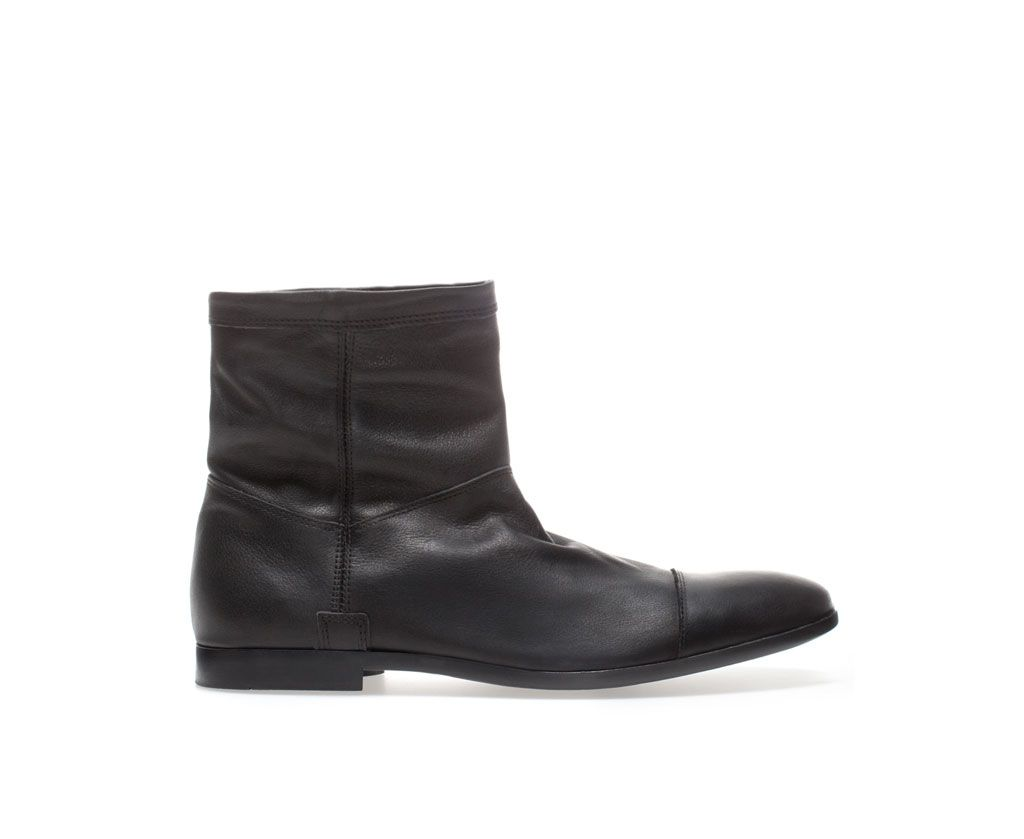 ZARA - MAN - ANKLE BOOT WITH ZIP