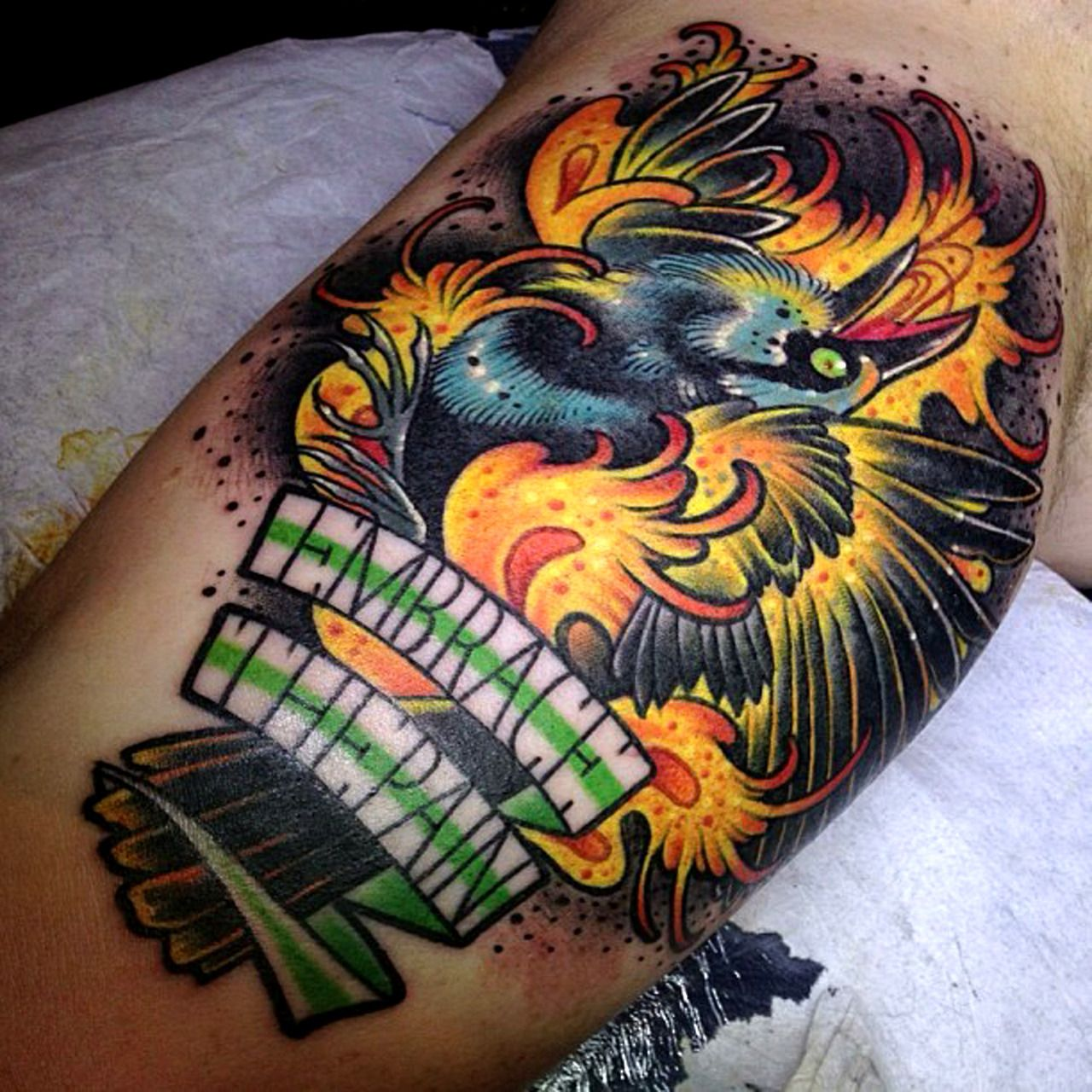 Embrace The Pain Tattoo by Aniela at BläckByrån Tattoo Studio in ... - Tattoo Studio Bielefeld