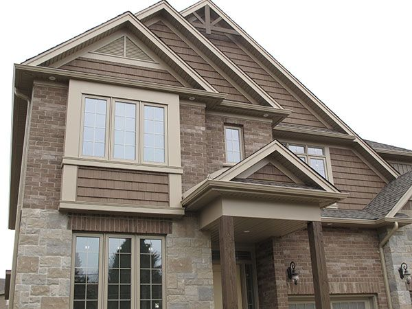 Saddle Brown With Matching Shakes Siding Siding With