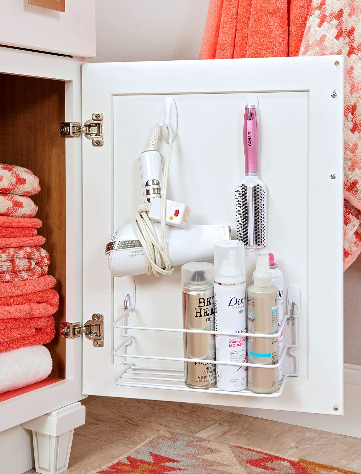 14 Small Space Hacks To Make The Most Of Your Tiny Bathroom Small Bathroom Storage Bathroom Organization Diy Diy Bathroom Storage Bathroom under sink organizer