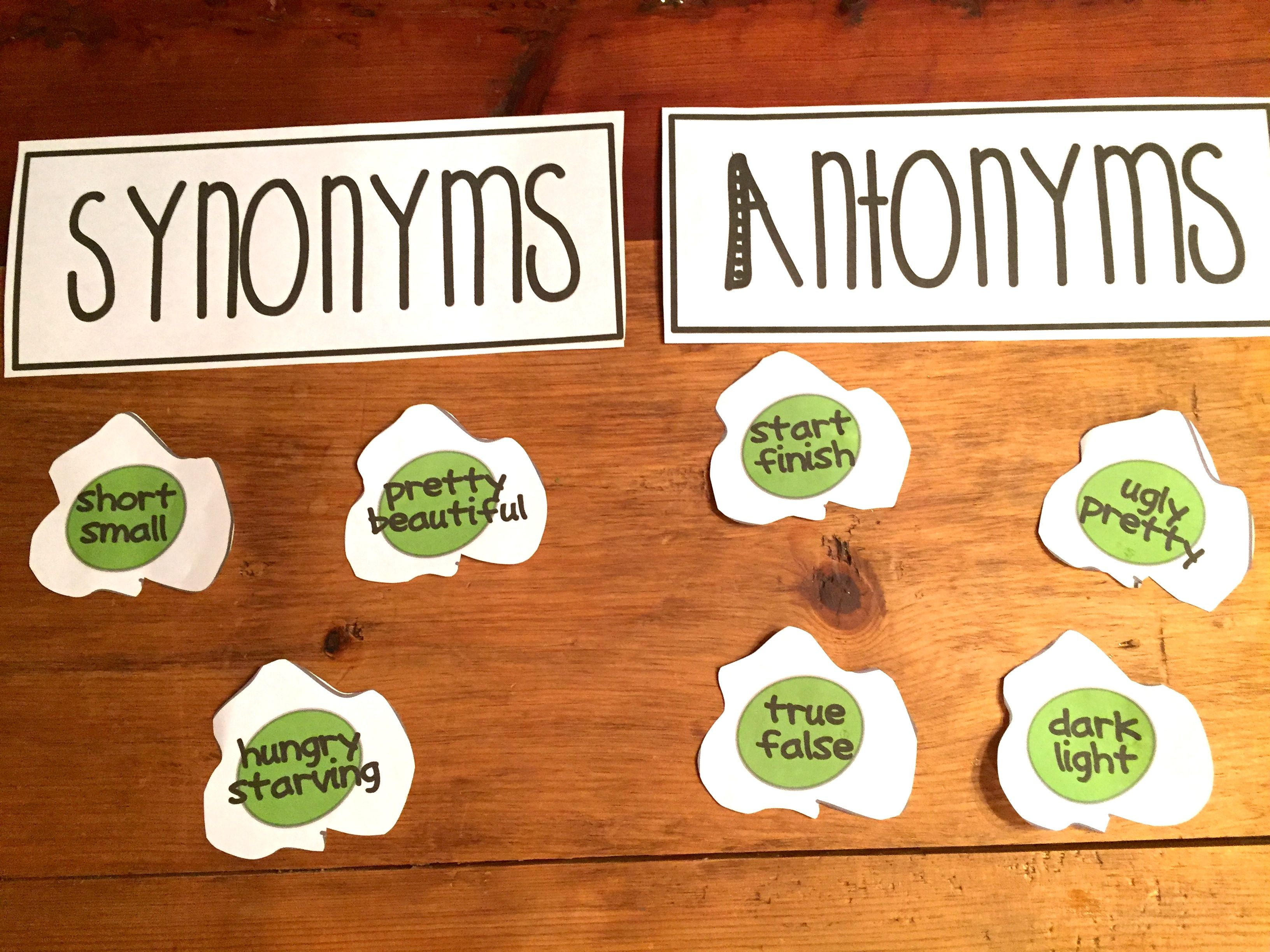 Synonyms Amp Antonyms With Green Eggs
