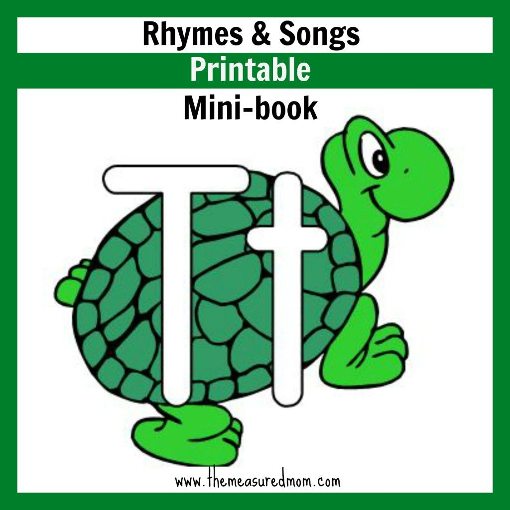 Little Letter T Book Rhymes Amp Songs