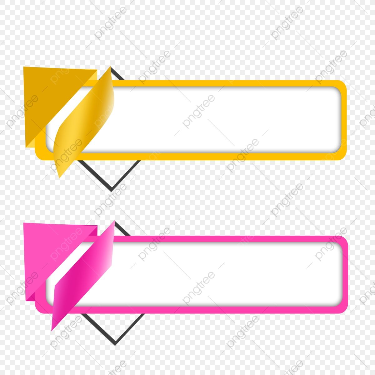 Vector Text Box Banner Design Box Clipart Rectangular Blank Border Colorful Concept Png Transparent Clipart Image And Psd File For Free Download Banner Design Background Banner Geometric Background