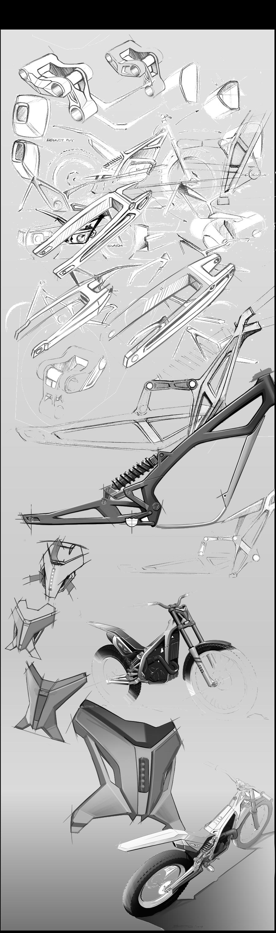 Jtg Jt 300 On Behance Design Sketch Sketch Design Bike Sketch