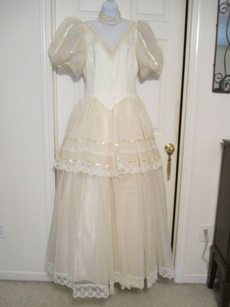 NWT VINTAGE Jessica McClintock Gunne Sax PROM VICTORIAN WEDDING ...