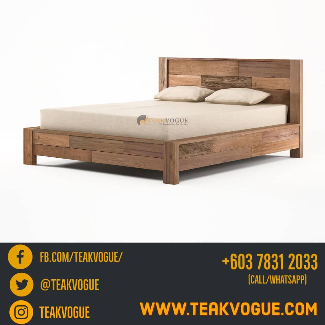 Shandur Queen Size Bed Teak Wood Bed Frames Malaysia With