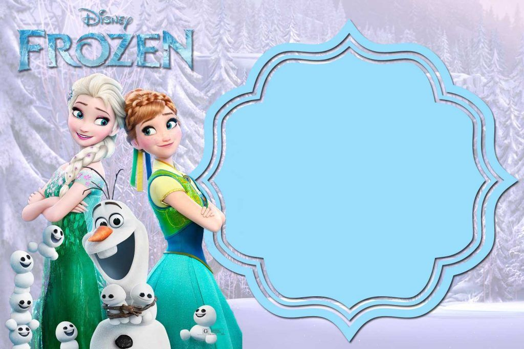 image relating to Free Printable Frozen Invites named Pin upon Biggs and Smalls Frozen bday