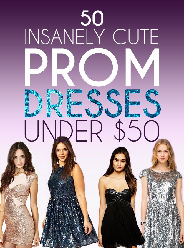 50 Insanely Cute Prom Dresses Under $50 | Prom, 50th and Homecoming