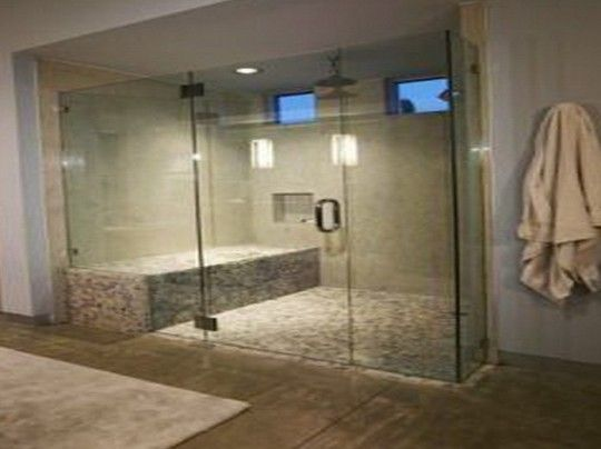 Luxury Walk In Shower Design With Bench