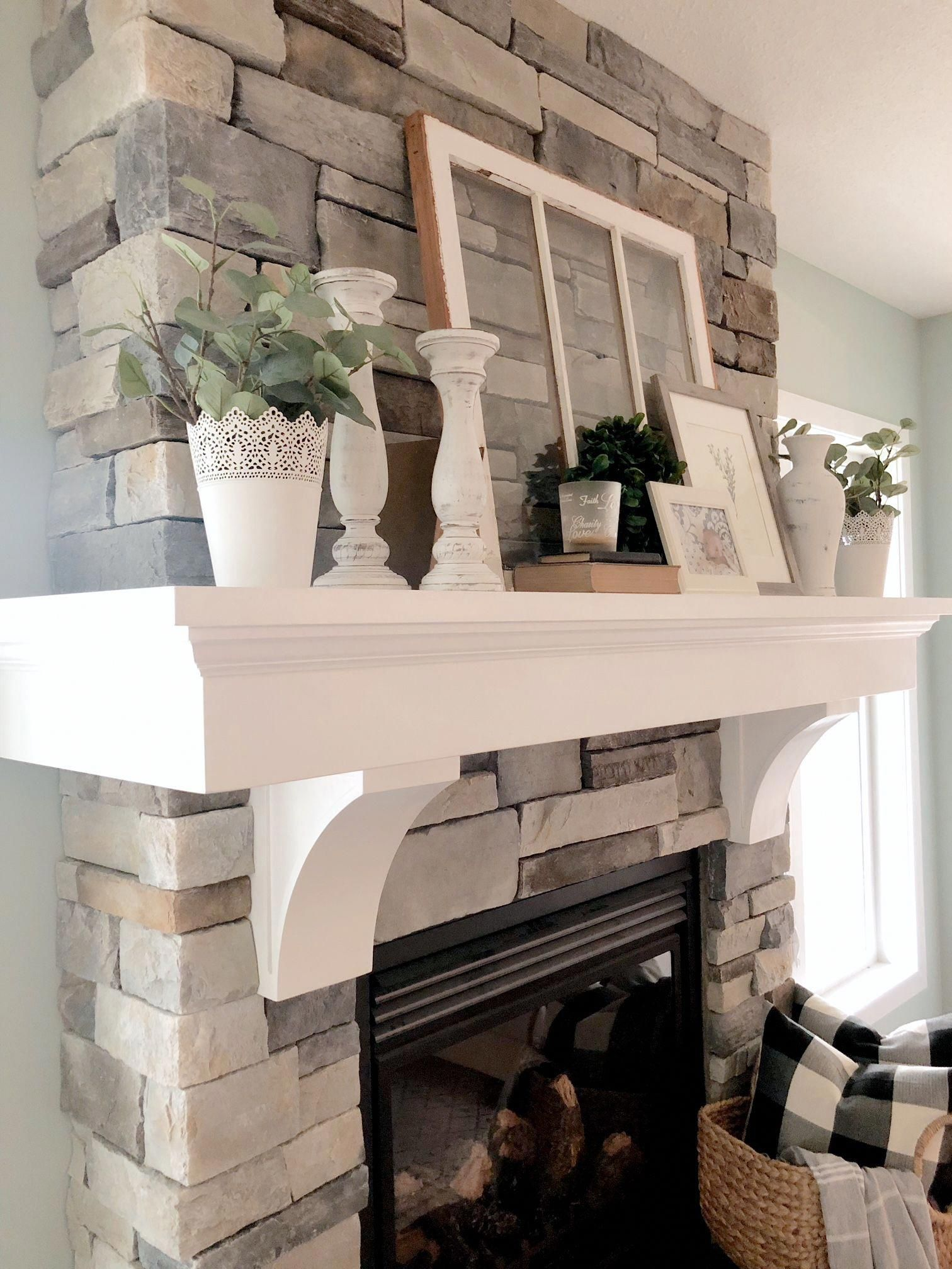 Farmhouse Mantel Decor – Valley + Birch #livingroomfireplacedecor