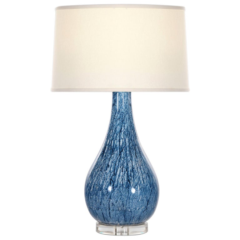 Emilia Table Lamp In Blue Ceramic By Curatedkravet Table Lamp Blue Table Lamp Ceramic Table Lamps