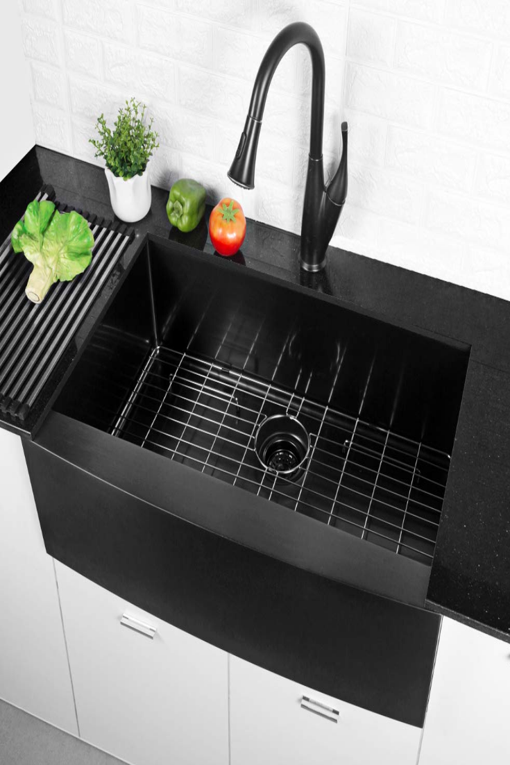 36 Inch Farmhouse Sink Matte Black Apron Single Bowl 16 Gauge 10 Inch Deep Stainless Steel Kitche In 2020 36 Inch Farmhouse Sink Farmhouse Sink Stainless Steel Kitchen