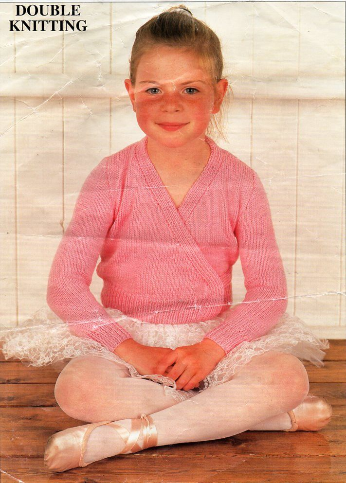 78b45955d2a2 girls DK ballet top knitting pattern pdf childrens ballet cardigan ...