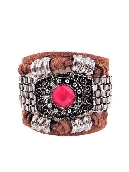 Pulseira Spin |Vermelho pulseira estilo boho de amarrar,bijoux boho style,bijoux com couro, bijuterias finas atacado,pulseirismo verão 2017,acessórios femininos atacado